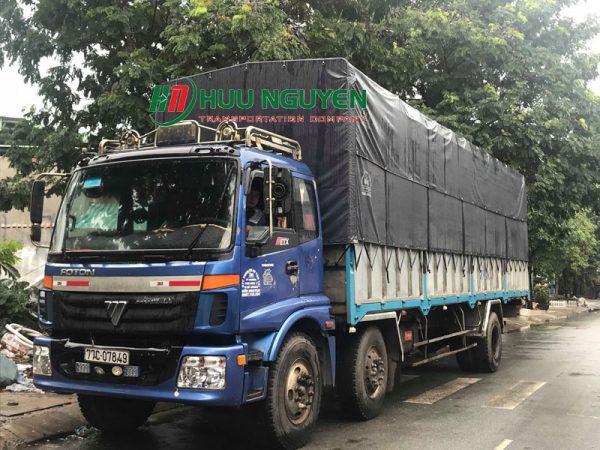 Chành xe đi Bình Định từ TPHCM với xe 10 tấn.