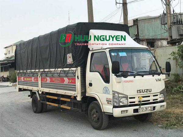 Chành xe đi Bình Định từ TPHCM với xe 6 tấn.